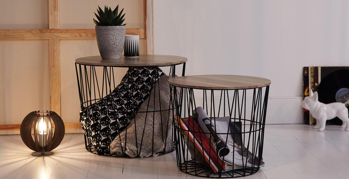 livarno living two wire tables at lidl for lottyearns. Black Bedroom Furniture Sets. Home Design Ideas